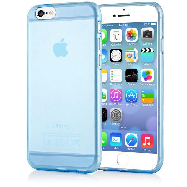 NALIA Handyhülle kompatibel mit iPhone 6 6S, Ultra-Slim Silikon Case Crystal Schutz-Hülle Dünn Durchsichtig, Handy-Tasche Etui Telefon-Schale Back-Cover Thin-Fit Smart-Phone Bumper - Blau Transparent – Bild 1