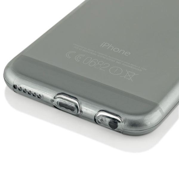 NALIA Handyhülle kompatibel mit iPhone 6 6S, Ultra-Slim Silikon Case Crystal Schutz-Hülle Dünn Durchsichtig, Handy-Tasche Etui Telefon-Schale Back-Cover Thin-Fit Smart-Phone Bumper - Grau Transparent – Bild 4