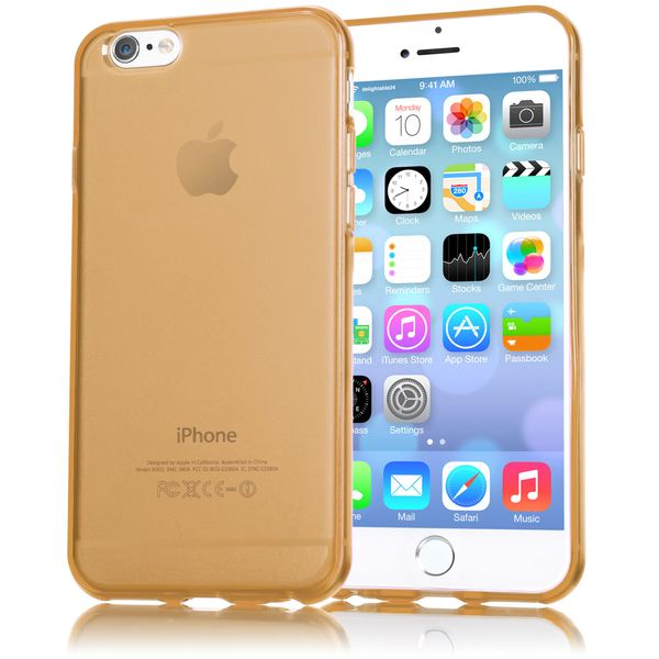 NALIA Handyhülle kompatibel mit iPhone 6 Plus 6S Plus, Ultra-Slim Silikon Case Cover Crystal Schutz-Hülle Dünn Durchsichtig, Etui Handy-Tasche Back-Cover Transparent Phone Bumper - Gold Champagner – Bild 1