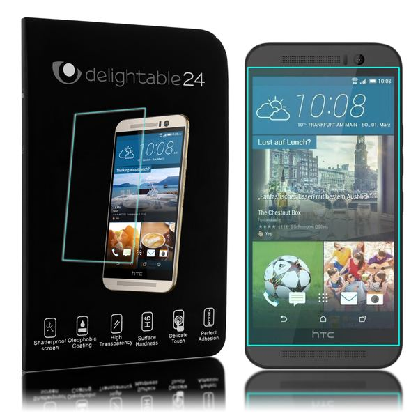 NALIA Schutzglas kompatibel mit HTC One M9, Full-Cover Displayschutz Handy-Folie, 9H Härte Glas-Schutzfolie Bildschirm-Abdeckung, Schutz-Film Phone HD Screen Protector Tempered Glass - Transparent – Bild 3