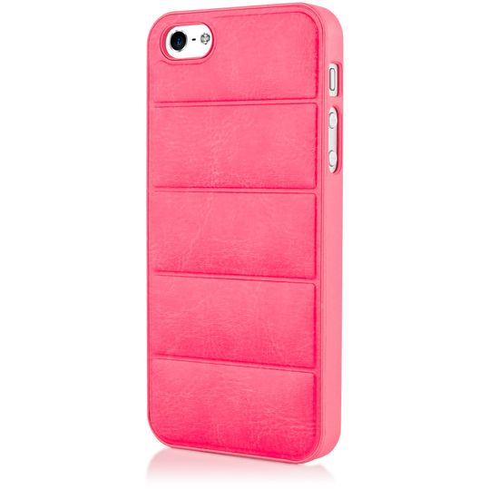 iPhone 5 5S SE Kunstleder Hülle Handyhülle von NICA, stoßfeste Schutzhülle Dünnes Hard-Case Handy-Tasche, Slim Back-Cover Phone Etui Matt Bumper für Apple i-Phone SE 5 5S Smartphone - Pink