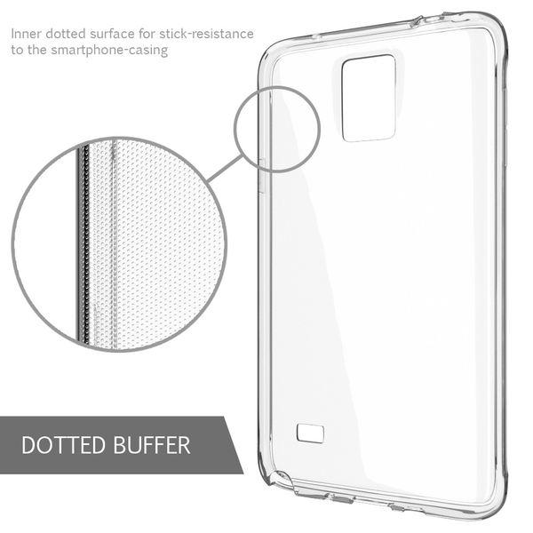 NALIA Handyhülle kompatibel mit Samsung Galaxy Note 4, Slim Silikon Case Hülle Cover Crystal Clear Schutzhülle Dünn Durchsichtig, Etui Handy-Tasche Back-Cover Transparent Schutz Smart-Phone Bumper – Bild 3