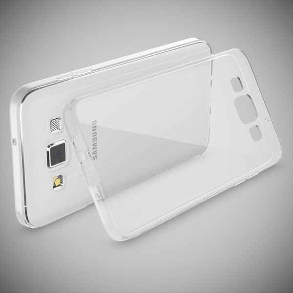 NALIA Handyhülle kompatibel mit Samsung Galaxy A3 2015, Slim Silikon Case Hülle Cover Crystal Clear Schutzhülle Dünn Durchsichtig, Etui Handy-Tasche Back-Cover Smart-Phone Schutz Bumper - Transparent – Bild 2