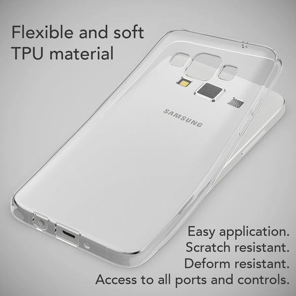 NALIA Handyhülle kompatibel mit Samsung Galaxy A3 2015, Slim Silikon Case Hülle Cover Crystal Clear Schutzhülle Dünn Durchsichtig, Etui Handy-Tasche Back-Cover Smart-Phone Schutz Bumper - Transparent – Bild 3