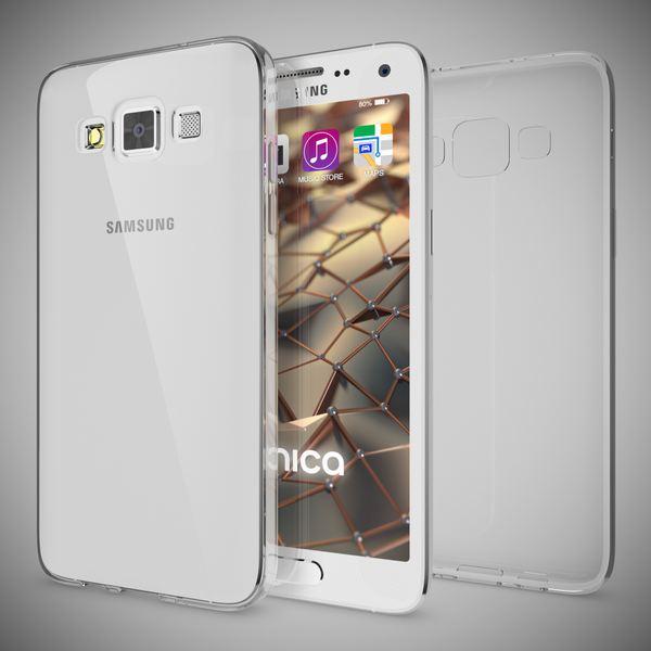 NALIA Handyhülle kompatibel mit Samsung Galaxy A5 2015, Slim Silikon Motiv Case Hülle Cover Crystal Schutzhülle Dünn Durchsichtig, Etui Handy-Tasche Schale Back-Cover Smart-Phone Bumper - Transparent – Bild 5