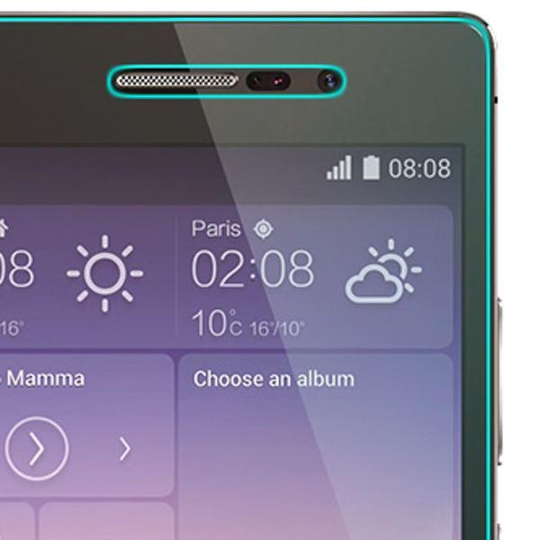 NALIA Schutzglas für Huawei P7, Full-Cover Displayschutz Handy-Folie, 9H gehärtete Glas-Schutzfolie Bildschirm-Abdeckung, Schutz-Film Smart-Phone HD Screen Protector Tempered Glass - Transparent – Bild 4