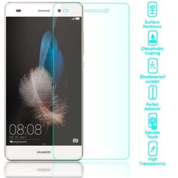 NALIA Schutzglas für Huawei P8 Lite, Full-Cover Displayschutz Handy-Folie, 9H gehärtete Glas-Schutzfolie Bildschirm-Abdeckung, Schutz-Film Phone HD Screen Protector Tempered Glass - Transparent – Bild 2