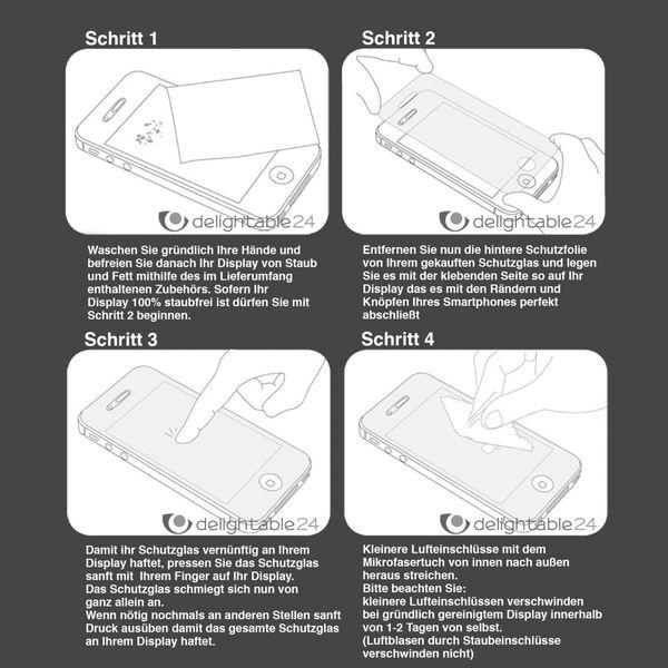 NALIA Schutzglas für Huawei P8 Lite, Full-Cover Displayschutz Handy-Folie, 9H gehärtete Glas-Schutzfolie Bildschirm-Abdeckung, Schutz-Film Phone HD Screen Protector Tempered Glass - Transparent – Bild 8