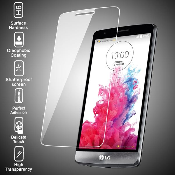 NALIA Schutzglas für LG G3, Full-Cover Displayschutz Handy-Folie, 9H gehärtete Glas-Schutzfolie Bildschirm-Abdeckung, Schutz-Film Smart-Phone HD Screen Protector Tempered Glass - Transparent – Bild 3