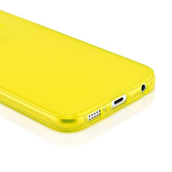 NALIA Handyhülle kompatibel mit Samsung Galaxy S6, Ultra-Slim Silikon Case Hülle Cover Crystal Schutzhülle Dünn Durchsichtig, Etui Handy-Tasche Schale Back-Cover Smart-Phone Bumper - Gelb Transparent – Bild 4
