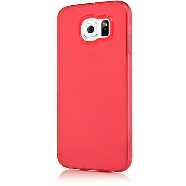 NALIA Handyhülle kompatibel mit Samsung Galaxy S6, Ultra-Slim Silikon Case Hülle Cover Crystal Schutzhülle Dünn Durchsichtig, Etui Handy-Tasche Schale Back-Cover Smart-Phone Bumper - Rot Transparent – Bild 5