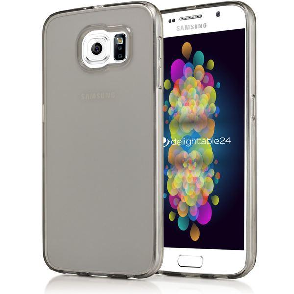 NALIA Handyhülle kompatibel mit Samsung Galaxy S6, Ultra-Slim Silikon Case Hülle Cover Crystal Schutzhülle Dünn Durchsichtig, Etui Handy-Tasche Schale Back-Cover Smart-Phone Bumper - Grau Transparent – Bild 1