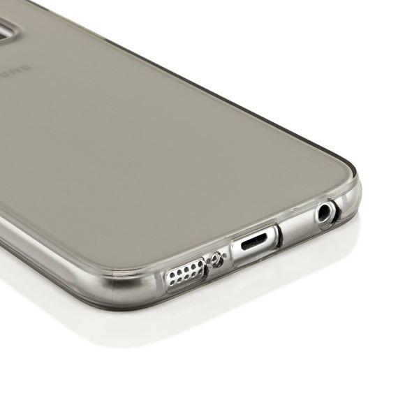 NALIA Handyhülle kompatibel mit Samsung Galaxy S6, Ultra-Slim Silikon Case Hülle Cover Crystal Schutzhülle Dünn Durchsichtig, Etui Handy-Tasche Schale Back-Cover Smart-Phone Bumper - Grau Transparent – Bild 4