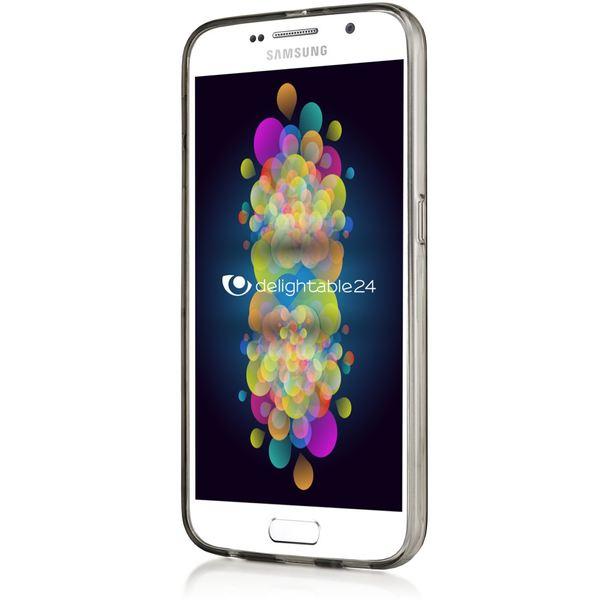 NALIA Handyhülle kompatibel mit Samsung Galaxy S6, Ultra-Slim Silikon Case Hülle Cover Crystal Schutzhülle Dünn Durchsichtig, Etui Handy-Tasche Schale Back-Cover Smart-Phone Bumper - Grau Transparent – Bild 6