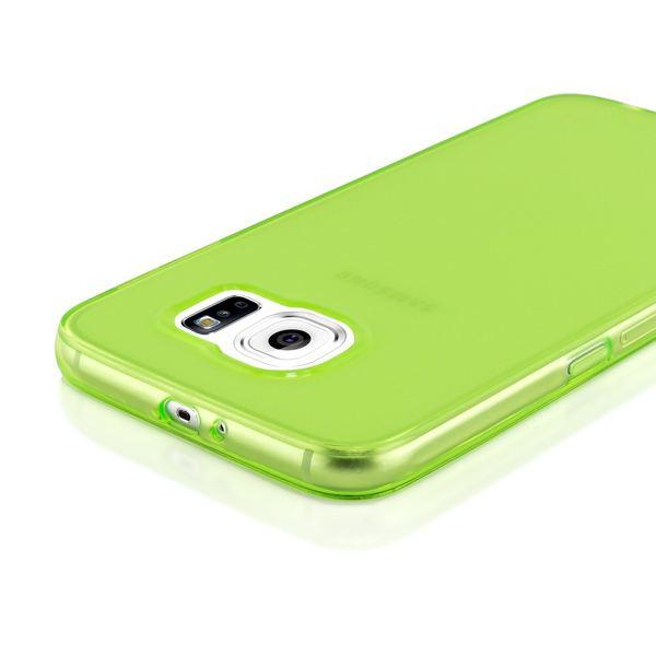 NALIA Handyhülle kompatibel mit Samsung Galaxy S6, Ultra-Slim Silikon Case Hülle Cover Crystal Schutzhülle Dünn Durchsichtig, Etui Handy-Tasche Schale Back-Cover Smart-Phone Bumper - Grün Transparent – Bild 3