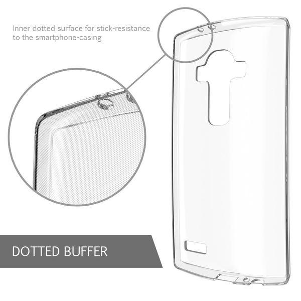 LG G4 Hülle Handyhülle von NALIA, Slim Silikon Case Cover Crystal Clear Schutzhülle Dünn Durchsichtig, Etui Handy-Tasche Backcover Transparent, Phone Schutz Rückseite Bumper Silikonhülle für LG G-4 – Bild 4