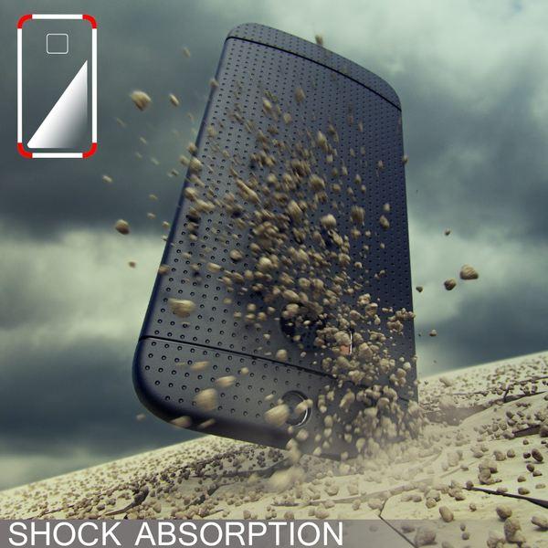 NALIA Handyhülle kompatibel mit HTC One M8 M8S, Ultra-Slim Case Cover, Dünne Punkte Schutzhülle, Etui Handy-Tasche Back-Cover Bumper, TPU Silikon-Hülle Smart-Phone - Mesh Blau – Bild 5