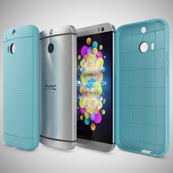 NALIA Handyhülle für HTC One M8 M8S, Ultra-Slim Case Cover, Dünne Punkte Schutzhülle, Etui Handy-Tasche Back-Cover Bumper, TPU Silikon-Hülle für HTC One M8S M8 Smart-Phone - Mesh Türkis – Bild 4