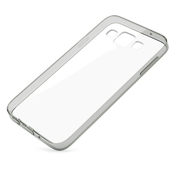 NALIA Handyhülle kompatibel mit Samsung Galaxy A3 2015, Durchsichtige Slim Silikon Case Hülle, Transparente Rückseite & Bumper, Schutzhülle Etui Dünn Handy-Tasche Thin Back-Cover - Transparent / Grau – Bild 2