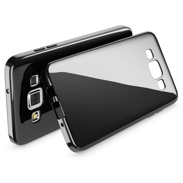 NALIA Handyhülle kompatibel mit Samsung Galaxy A3 2015, Ultra-Slim Silikon Case Cover Hülle, Dünne Schutzhülle Etui Handy-Tasche Backcover Bumper TPU Phone - Schwarz – Bild 2