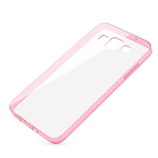 NALIA Handyhülle kompatibel mit Samsung Galaxy A5 2015, Durchsichtiges Slim Silikon Case Hülle Transparente Rückseite & Bumper, Schutzhülle Etui Dünn Handy-Tasche Back-Cover - Transparent / Pink – Bild 2