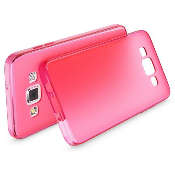 NALIA Handyhülle kompatibel mit Samsung Galaxy A5 2015, Ultra-Slim Silikon Case Hülle, Dünne Crystal Schutzhülle, Etui Handy-Tasche Schale Back-Cover Bumper, TPU Smart-Phone Gummi-Hülle - Matt Pink – Bild 2