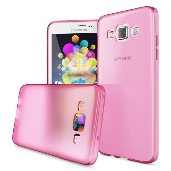 NALIA Handyhülle kompatibel mit Samsung Galaxy A5 2015, Ultra-Slim Silikon Case Hülle, Dünne Crystal Schutzhülle, Etui Handy-Tasche Back-Cover Bumper, TPU Smart-Phone Gummi-Hülle - Transparent / Pink – Bild 4