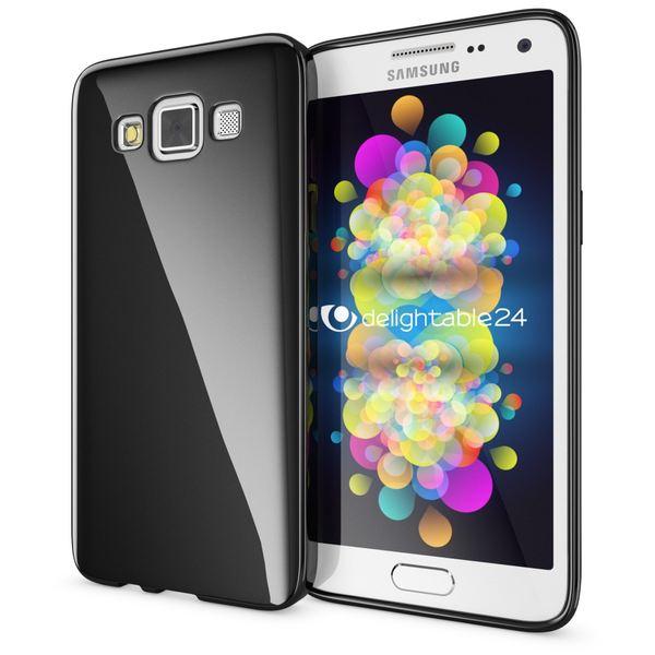 NALIA Handyhülle kompatibel mit Samsung Galaxy A5 2015, Ultra-Slim Silikon Case Hülle, Dünne Crystal Schutzhülle, Etui Handy-Tasche Schale Back-Cover Bumper, TPU Smart-Phone Gummi-Hülle - Schwarz – Bild 1