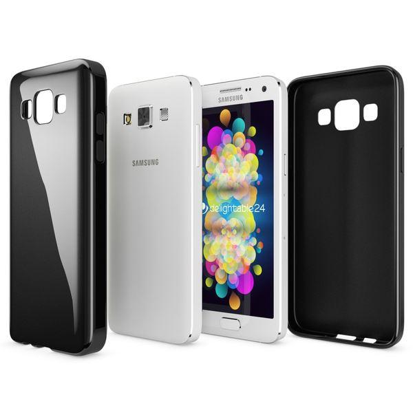 NALIA Handyhülle kompatibel mit Samsung Galaxy A5 2015, Ultra-Slim Silikon Case Hülle, Dünne Crystal Schutzhülle, Etui Handy-Tasche Schale Back-Cover Bumper, TPU Smart-Phone Gummi-Hülle - Schwarz – Bild 6