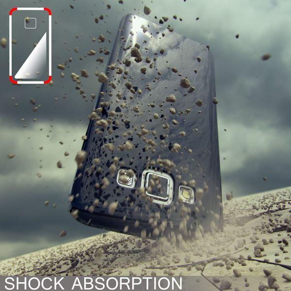 NALIA Handyhülle kompatibel mit Samsung Galaxy A5 2015, Ultra-Slim Silikon Case Hülle, Dünne Crystal Schutzhülle, Etui Handy-Tasche Schale Back-Cover Bumper, TPU Smart-Phone Gummi-Hülle - Schwarz – Bild 5