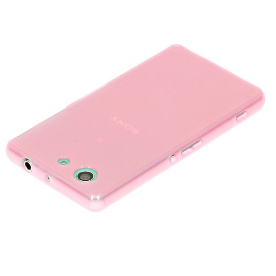 Sony Xperia Z3 Compact / Xperia Z3+ Compact Hülle Handyhülle von NICA, Ultra-Slim Silikon Case, Dünne Crystal Schutzhülle, Etui Handy-Tasche Back-Cover Bumper, TPU Gummihülle - Transparent / Pink – Bild 4
