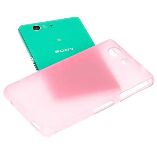 Sony Xperia Z3 Compact / Xperia Z3+ Compact Hülle Handyhülle von NICA, Ultra-Slim Silikon Case, Dünne Crystal Schutzhülle, Etui Handy-Tasche Back-Cover Bumper, TPU Gummihülle - Transparent / Pink – Bild 3