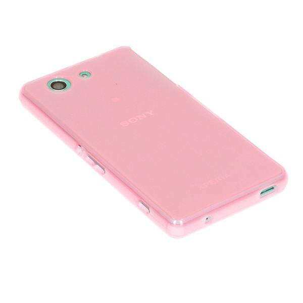 NALIA Handyhülle kompatibel mit Sony Xperia Z3 Compact / Xperia Z3+ Compact, Ultra-Slim Silikon Case, Dünne Crystal Schutzhülle, Etui Handy-Tasche Back-Cover Bumper, TPU Gummihülle - Transparent Pink – Bild 2