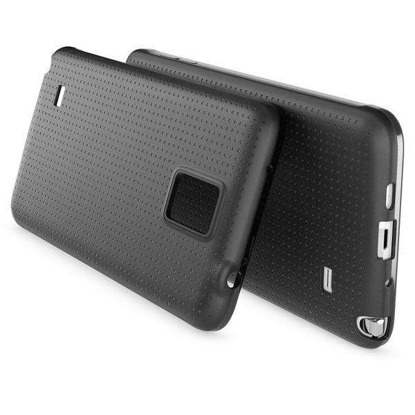 NALIA Handyhülle kompatibel mit Samsung Galaxy Note 4, Ultra-Slim Case Hülle Soft Punkte Schutzhülle Dünn, Etui Handy-Tasche Schale Back-Cover Bumper TPU Smart-Phone Silikon-Hülle - Mesh Schwarz – Bild 2