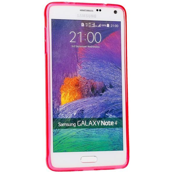 NALIA Handyhülle für Samsung Galaxy Note 4, Ultra-Slim Silikon Case Hülle, Dünne Crystal Schutzhülle, Etui Handy-Tasche Back-Cover Bumper, TPU Gummihülle für Samsung Note-4 Phone - Matt Pink – Bild 5