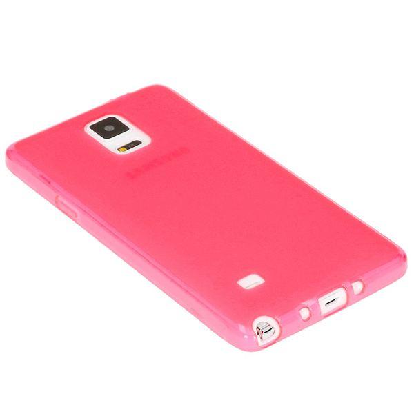 NALIA Handyhülle für Samsung Galaxy Note 4, Ultra-Slim Silikon Case Hülle, Dünne Crystal Schutzhülle, Etui Handy-Tasche Back-Cover Bumper, TPU Gummihülle für Samsung Note-4 Phone - Matt Pink – Bild 2