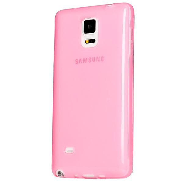 NALIA Handyhülle kompatibel mit Samsung Galaxy Note 4, Ultra-Slim Silikon Case Hülle Dünn, Crystal Schutz-Hülle Etui Handy-Tasche Back-Cover Bumper, TPU Smart-Phone Gummi-Hülle - Transparent Pink – Bild 1