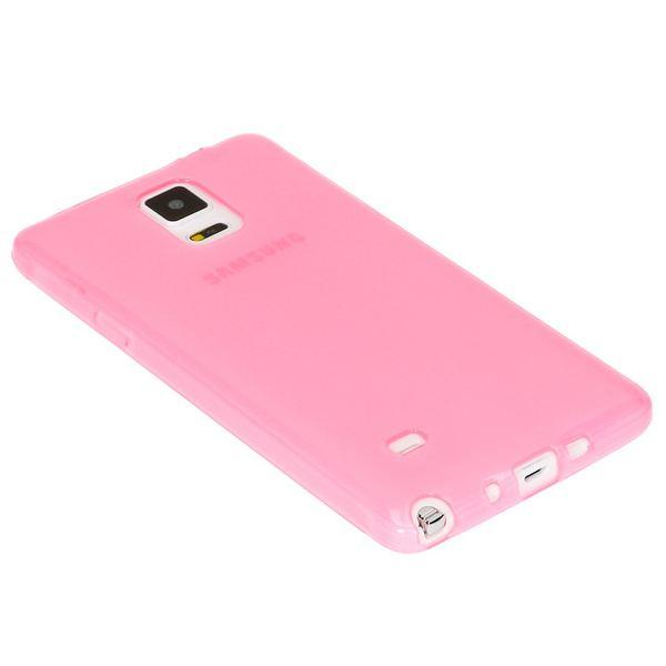 NALIA Handyhülle kompatibel mit Samsung Galaxy Note 4, Ultra-Slim Silikon Case Hülle Dünn, Crystal Schutz-Hülle Etui Handy-Tasche Back-Cover Bumper, TPU Smart-Phone Gummi-Hülle - Transparent Pink – Bild 2