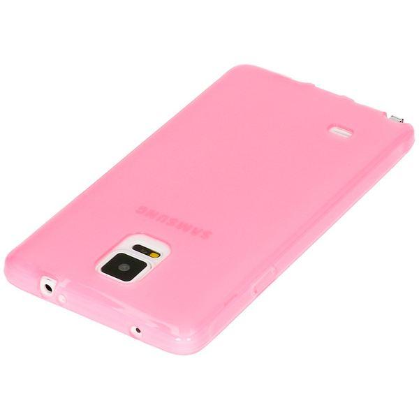 NALIA Handyhülle kompatibel mit Samsung Galaxy Note 4, Ultra-Slim Silikon Case Hülle Dünn, Crystal Schutz-Hülle Etui Handy-Tasche Back-Cover Bumper, TPU Smart-Phone Gummi-Hülle - Transparent Pink – Bild 3