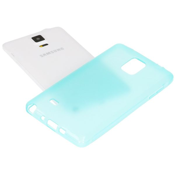 NALIA Handyhülle kompatibel mit Samsung Galaxy Note 4, Ultra-Slim Silikon Case Hülle Dünn, Crystal Schutz-Hülle Etui Handy-Tasche Back-Cover Bumper, TPU Smart-Phone Gummi-Hülle - Transparent Türkis – Bild 4