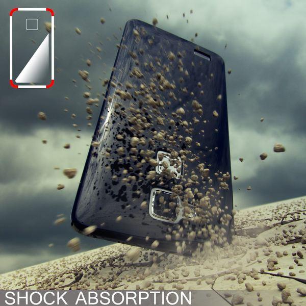 NALIA Handyhülle für Huawei Ascend Mate 7, Ultra-Slim Silikon Case Hülle, Dünne Crystal Schutzhülle, Etui Handy-Tasche Back-Cover Bumper, softe TPU Smart-Phone Gummihülle - Matt Schwarz – Bild 5