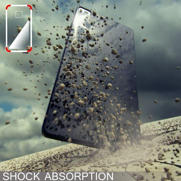 NALIA Handyhülle für Huawei P8, Ultra-Slim Silikon Case Cover Hülle, Dünne Crystal Schutzhülle, Etui Handy-Tasche Back-Cover Phone Bumper, softe TPU Gummihülle für P-8 Smartphone - Matt Pink – Bild 5