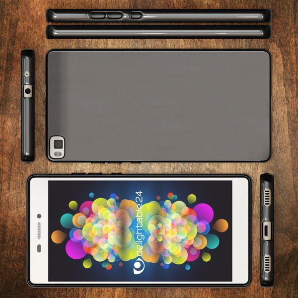 NALIA Handyhülle kompatibel mit Huawei P8, Ultra-Slim Silikon Case Cover Hülle, Dünne Crystal Schutzhülle Etui Handy-Tasche Schale Thin Back-Cover Bumper, Softe TPU Smart-Phone Gummi-Hülle - Schwarz – Bild 6