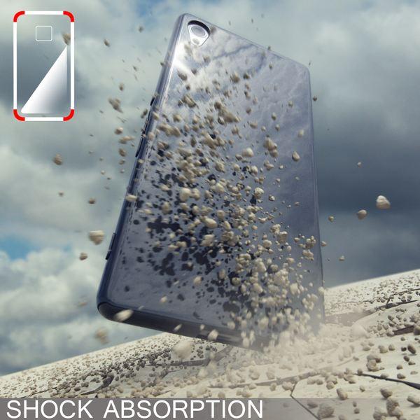 NALIA Handyhülle kompatibel mit Sony Xperia Z3+ Plus, Ultra-Slim Silikon Case, Dünne Crystal Schutzhülle, Etui Handy-Tasche Back-Cover Bumper, TPU Smartphone Gummihülle - Transparent / Pink – Bild 6