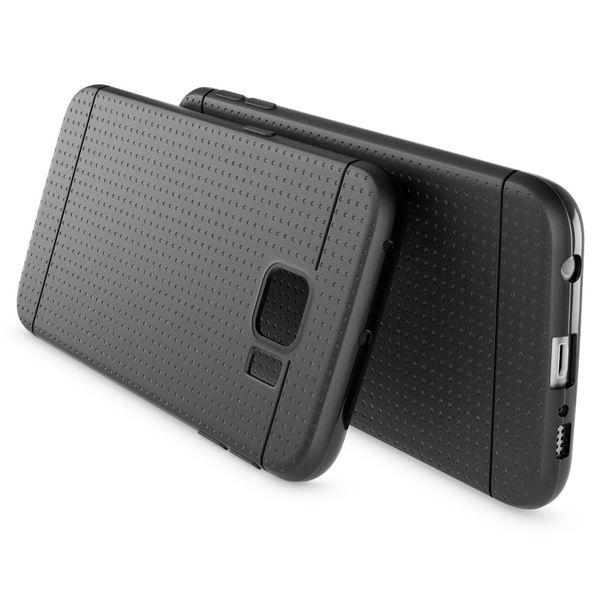 NALIA Handyhülle kompatibel mit Samsung Galaxy S6 Edge, Ultra-Slim Case Hülle Soft-Cover, Dünne Punkte Schutzhülle Etui Handy-Tasche  Back-Cover Bumper, TPU Smart-Phone Silikon-Hülle - Mesh Schwarz – Bild 2