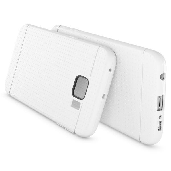 NALIA Handyhülle kompatibel mit Samsung Galaxy S6 Edge, Ultra-Slim Case Hülle Soft-Cover, Dünne Punkte Schutzhülle Etui Handy-Tasche Schale Back-Cover Bumper TPU Smart-Phone Silikon-Hülle - Mesh Weiß – Bild 2