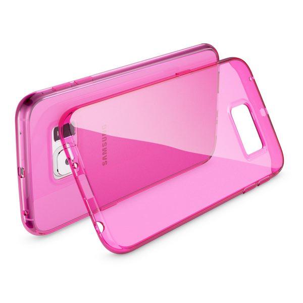 NALIA Handyhülle kompatibel mit Samsung Galaxy S6 Edge, Ultra-Slim Silikon Case Hülle Crystal Schutzhülle Dünn Durchsichtig, Handy-Tasche Schale Thin Back-Cover Smart-Phone Bumper - Pink Transparent – Bild 2