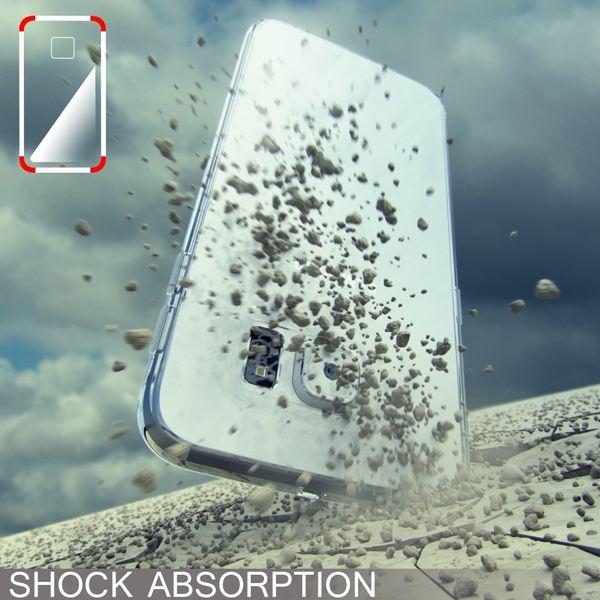 NALIA Handyhülle kompatibel mit Samsung Galaxy S6 Edge, Ultra-Slim Silikon Case Hülle Crystal Schutzhülle Dünn Durchsichtig, Handy-Tasche Schale Thin Back-Cover Smart-Phone Bumper - Grün Transparent – Bild 6