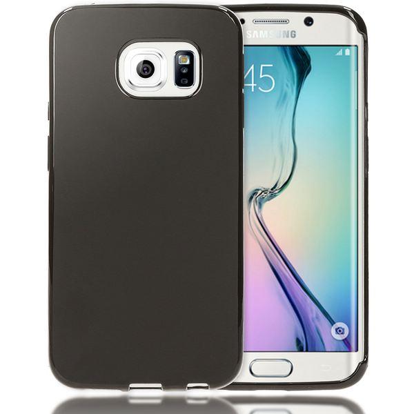 NALIA Handyhülle kompatibel mit Samsung Galaxy S6 Edge, Ultra-Slim Silikon Case Hülle, Dünne Crystal Schutzhülle Etui Handy-Tasche Schale Back-Cover Bumper, TPU Smart-Phone Gummihülle - Matt Schwarz – Bild 1