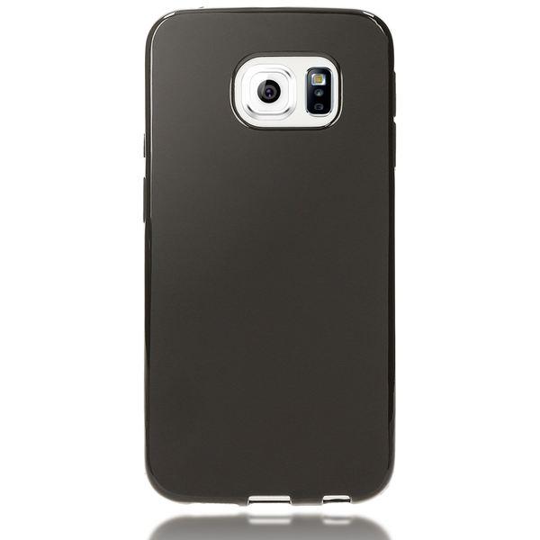 NALIA Handyhülle kompatibel mit Samsung Galaxy S6 Edge, Ultra-Slim Silikon Case Hülle, Dünne Crystal Schutzhülle Etui Handy-Tasche Schale Back-Cover Bumper, TPU Smart-Phone Gummihülle - Matt Schwarz – Bild 4